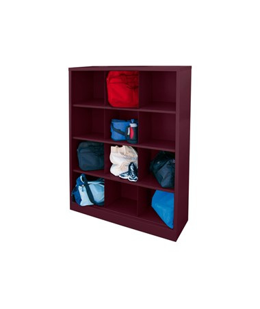12 Compartments - Burgundy
