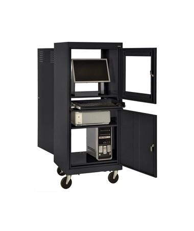 Sandusky Lee Mobile Security Computer Cabinet SANJG2663-BLK-