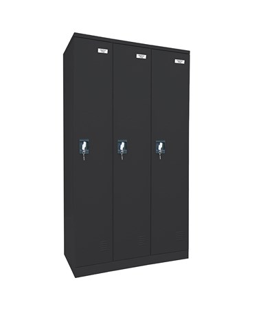 Single Tier and 3 Units Wide - Black