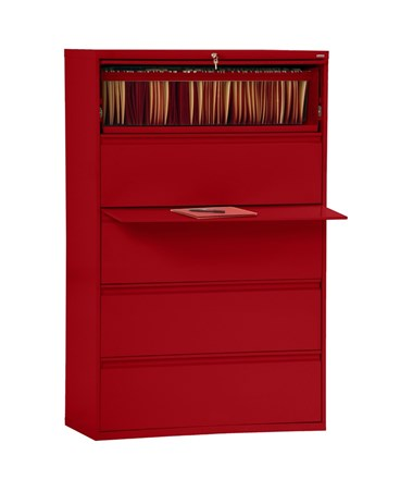 Five Drawers - Red