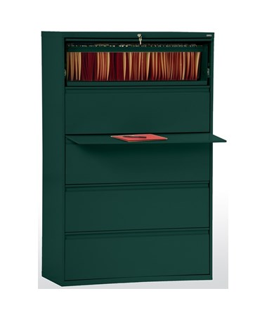 Five Drawers - Forest Green