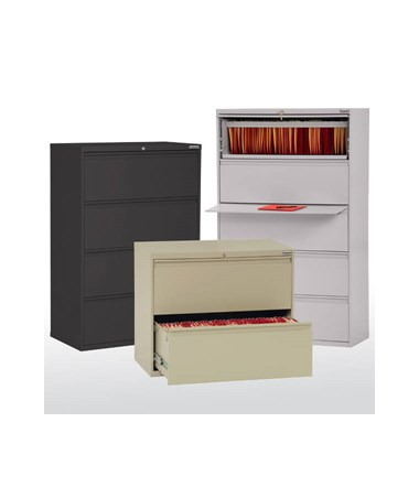 Sandusky Lee 800 Series Lateral File Cabinet with Full Pull Handles SANLF8F302-01-