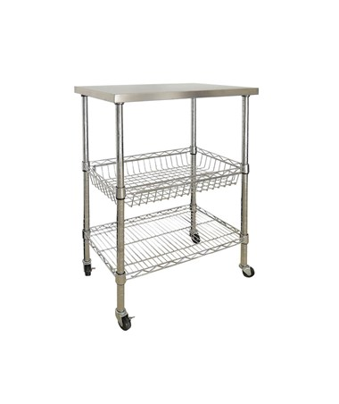 Sandusky Lee Stainless Steel Top Wire Cart SANMKTSS241440
