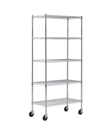 Sandusky Lee Heavy Duty Mobile Wire Shelving SANMWS361872