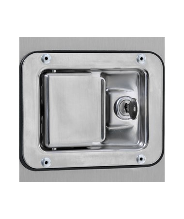 Recessed Stainless Steel Paddle Lock