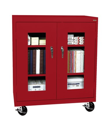 Sandusky Lee Transport Counter Height Cabinet with Clear View Doors SANTA2V361842-01-