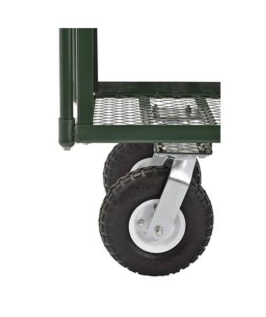 Sandusky Lee 2-Tier Heavy-Duty Steel Wagon - Front Wheels
