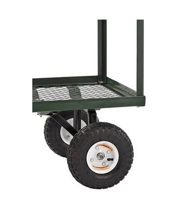 Sandusky Lee 2-Tier Heavy-Duty Steel Wagon - Back Wheels