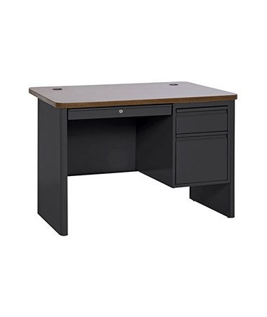 Black with Medium Oak Top