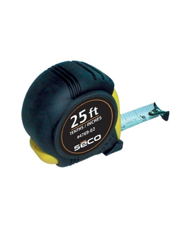 """Seco Pocket Measuring Tape 25'X1"""" Tenths/Inches SEC4769-02"""
