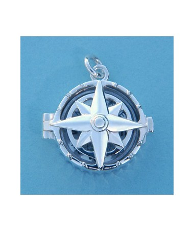 Sterling Silver Miniature Compass Lockets SLCSS