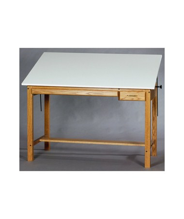 SMI Professional Medium Oak Drawing Table M3648OT TR