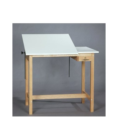SMI Pacific Unfinished Oak Split Top Drawing Table U2436 30STA