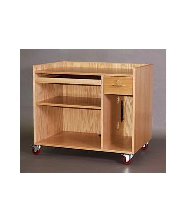 "SMI Mobile Computer Cabinet, 32""H, Single Shelf CCM32"