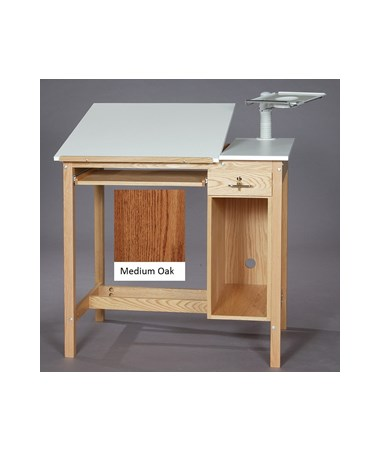 SMI Drafting Computer Table Medium Oak M3042-CT1