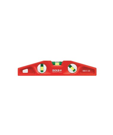 Sola MM 5 25 Cast Aluminum Magnetic Torpedo Level