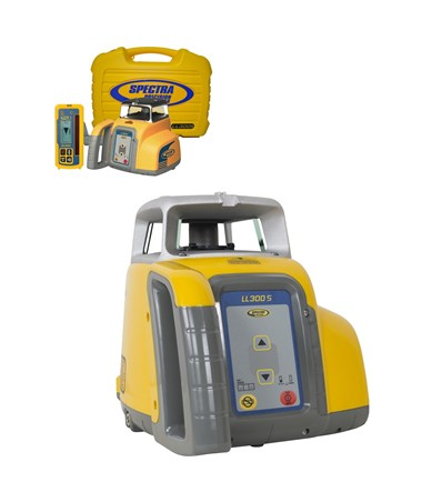 Spectra LL300S Self Leveling Laser with HL760 Receiver