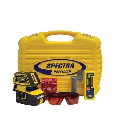 Spectra LT52 5-Point and 2-Cross Line Laser Level