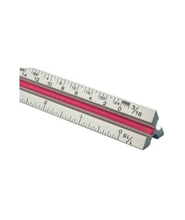 Aluminum Triangular Scale, In inch and metric TA60