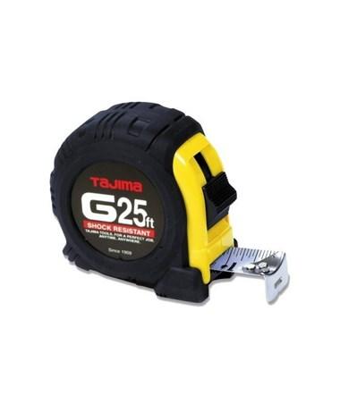 Tajima G-Series Standard Scale Shock Resistant Tape Measure, 25 feet G-25BW