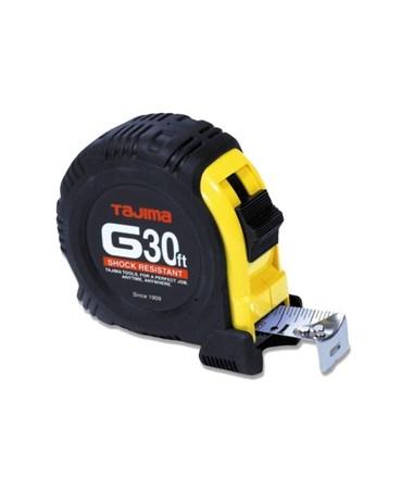 Tajima G-Series Standard Scale Shock Resistant Tape Measure, 30 feet G-30BW