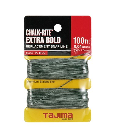 Tajima Chalk-Rite Braided Line 30m / 100 ft. 1mm Extra Bold TAJPL-ITOL