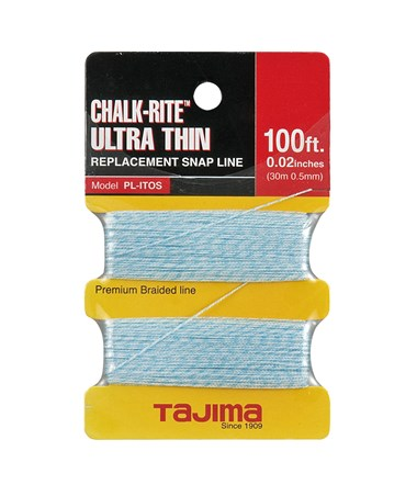Tajima Chalk-Rite Braided Line 30m / 100 ft. 0.5mm Ultra Thin TAJPL-ITOS