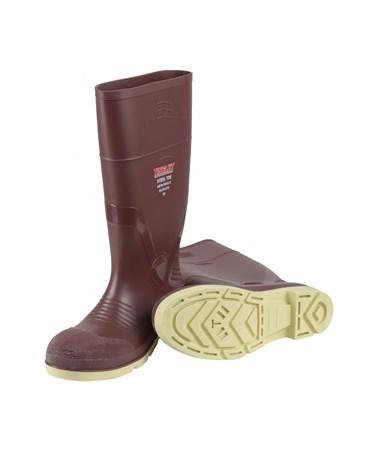 "PVC KNEE BOOTS - 15"" Brick Red/Cream TIN93145"