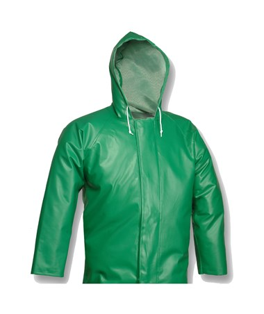 ACID SUIT - Green Jacket - Storm Fly Front - Attached Hood TINJ41108