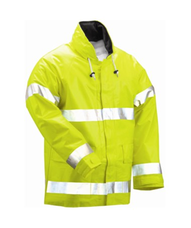 Flame Resistant Fluorescent Yellow Green Jacket
