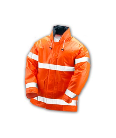 Flame Resistant Fluorescent Orange Red Jacket