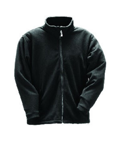 Heavy Weight Fleece Jacket – Black – Zipper Fly Front TINJ72003