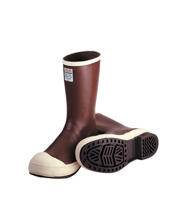"NEOPRENE BOOTS (Triple dipped) - 12½"", Steel Toe, Brick Red TINMB924B"