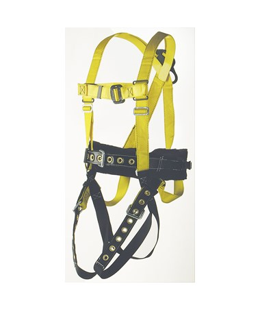 Ultra-Safe Full Body Miner's Type Harness with Center Back and Lower Lumbar D-rings, Battery and Respirator Straps, and Tongue-buckle Connections ULT96305NTM