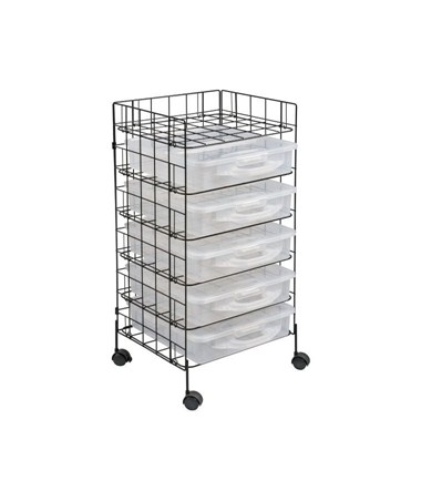 Alvin Stow & Rack Mobile Storage Cart WRASB5